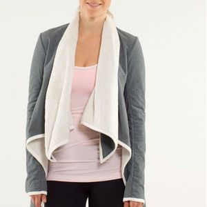 🍂 Lululemon Presence of Mind Sherpa Wrap Jacket 6